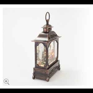 "12"" Illuminated Glitter Lantern with Holiday Scen"